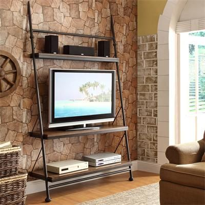 Riverside Furniture U2013 Camden Town Leaning TV Stand