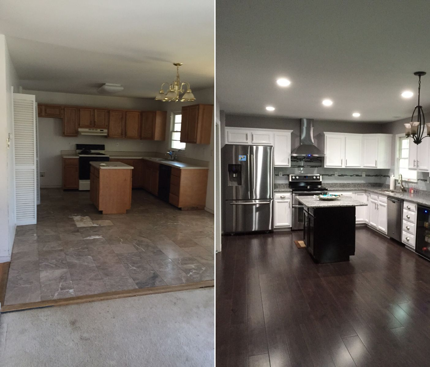Home Remodeling: Dream Kitchen Remodel: Before + After Espresso Hevea
