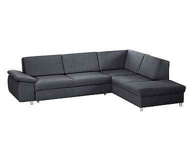 Divano letto con chaise longue dx Savasta antracite - 270x210x77 cm ...