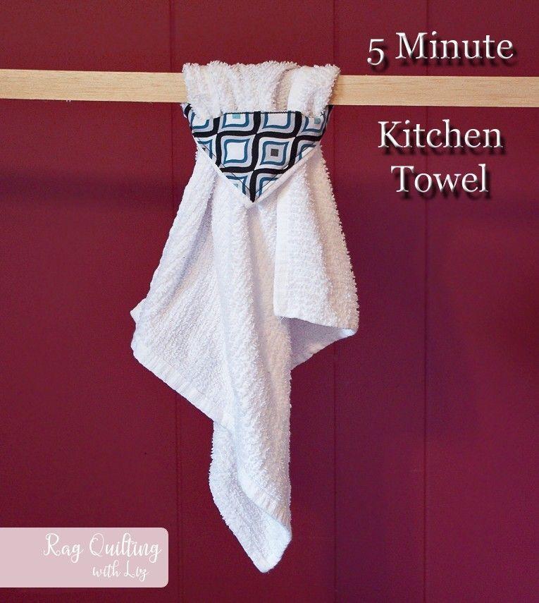5 Minute Kitchen Towel #handtowels