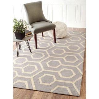 nuLOOM Handmade Modern Indoor/ Outdoor Trellis Grey Rug (9' x 12')