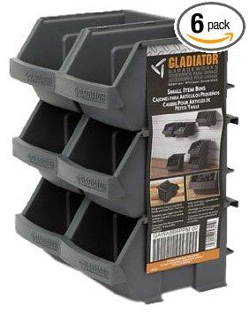 Gladiator GarageWorks GAWESB6PSM Small Item Bins, 6-Pack - Amazon.com                                       $10-$15!