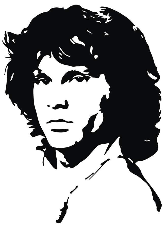 Jim Morrison Silhouette Art Jim Morrison Art
