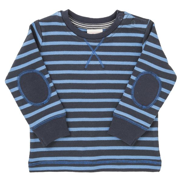 People Wear Organic – Jungen Langarmshirt blau gestreift Bio Baumwolle People Wear Organic | Avocadostore
