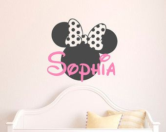 Mädchen Namen Wall Decal Minnie Mouse Wandtattoo Von FabWallDecals