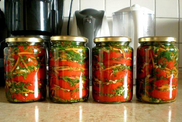перец болгарский целый на зиму рецепты с фото