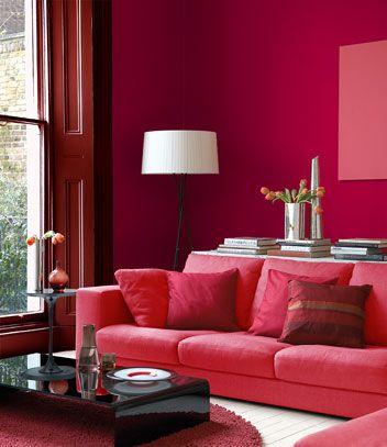 D grad de rouge id e d co rouge pinterest - Decoration salon framboise ...
