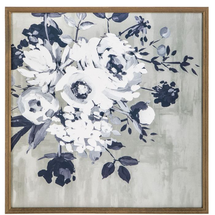 Photo of Blaues Blumenholz-Wanddekor   Hobby Lobby   1656719