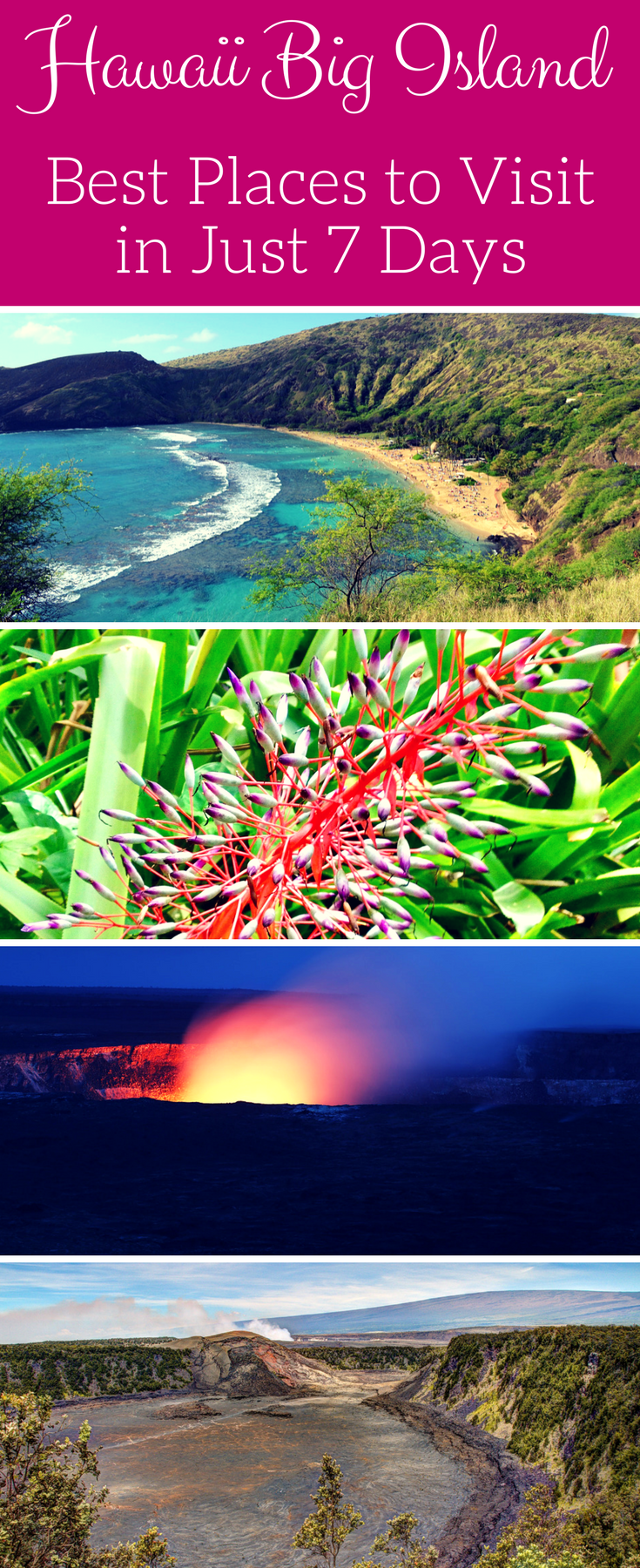 big island hawaii best places to visit in 7 days usa travel rh pinterest com
