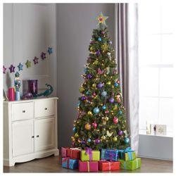 Tesco 6 5ft Evergreen Slim Pop Up Christmas Tree Christmas Tree Christmas Christmas Decorations
