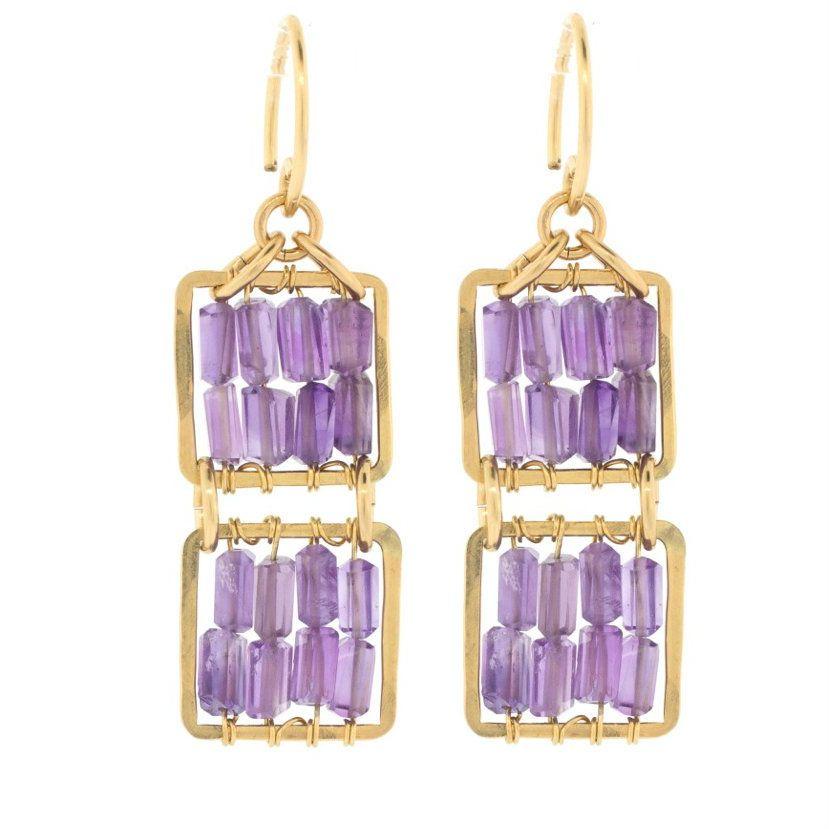 Judith Bright Jewelry - GF Isobel Earrings, $188.00 (http://judithbright.com/gf-isobel-earrings/)