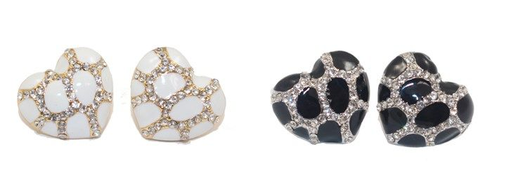 CZ Heart-Shaped Stud Earrings (9 Styles) | #MothersDay