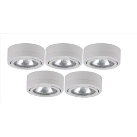 Utilitech 5 Pack 2 6 In Plug In Under Cabinet Xenon Puck Light