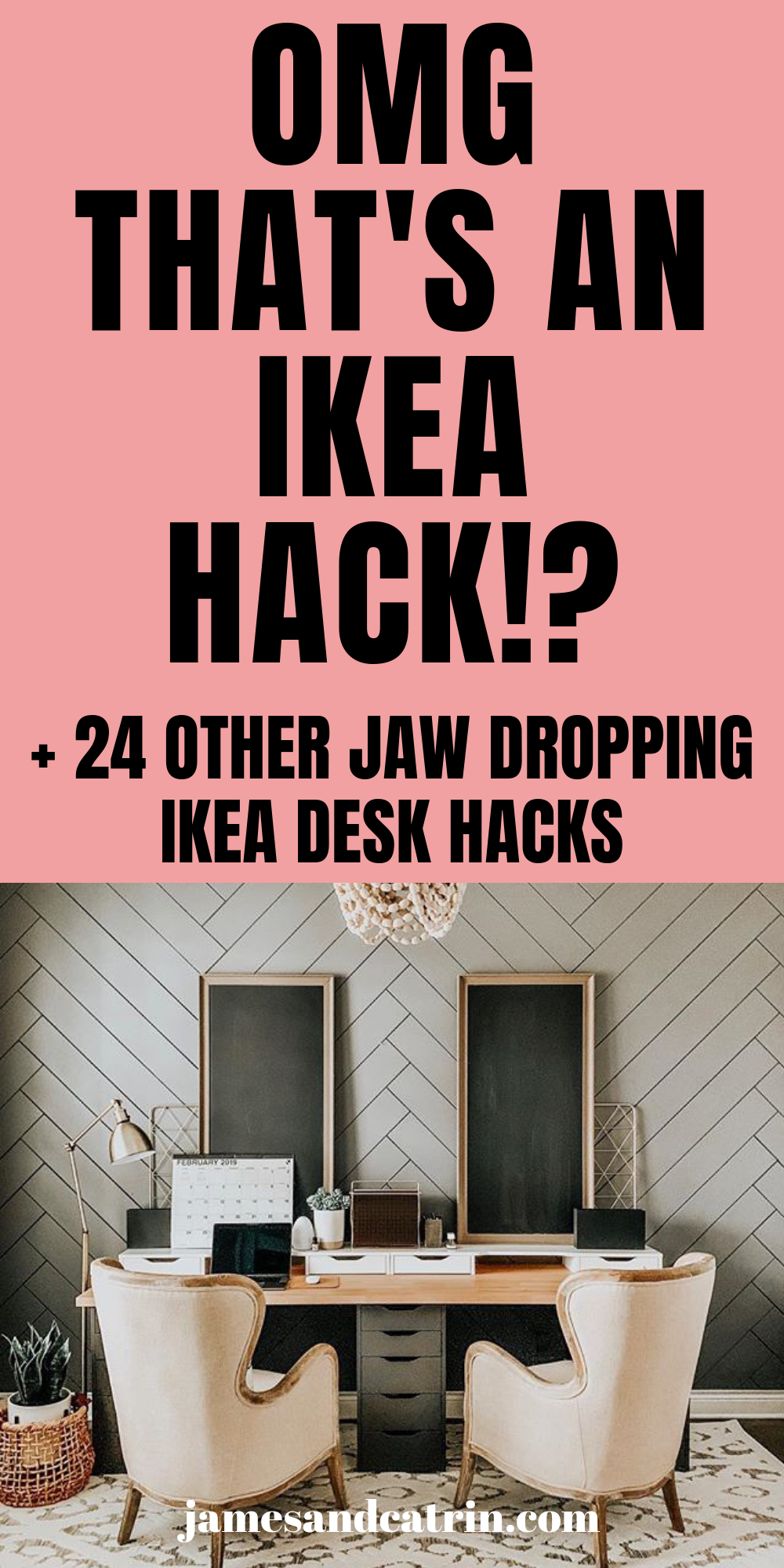 25 Ikea Desk Hacks That Will Inspire You All Day Long James And Catrin Ikea Desk Hack Desk Hacks Ikea Desk