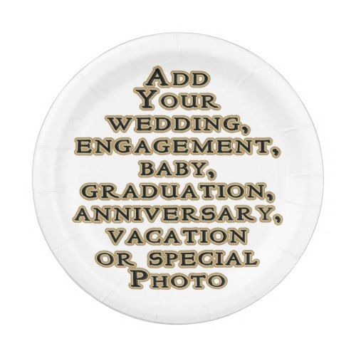 Design Create Your Own Add Photo DIY Personalized Paper Plate  sc 1 st  Pinterest & Create Your Own Add Photo DIY Personalized Paper Plate