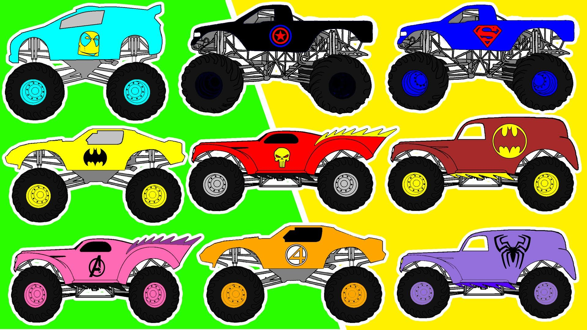 Monster Truck Counting For Kids Count 1 To 10 Street Vehicles