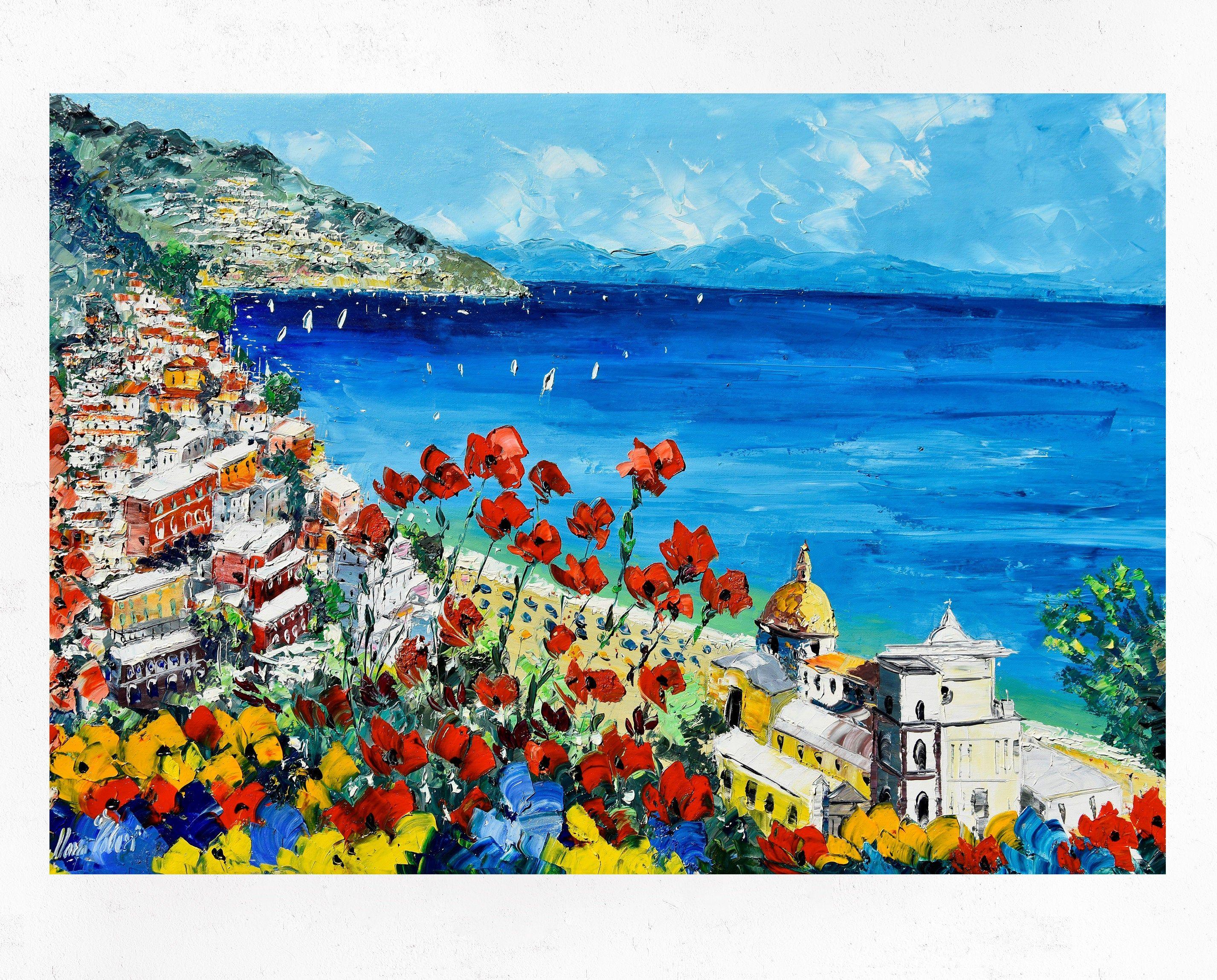 Pin su Spatula Oil Paintings italian art positano venezia ...
