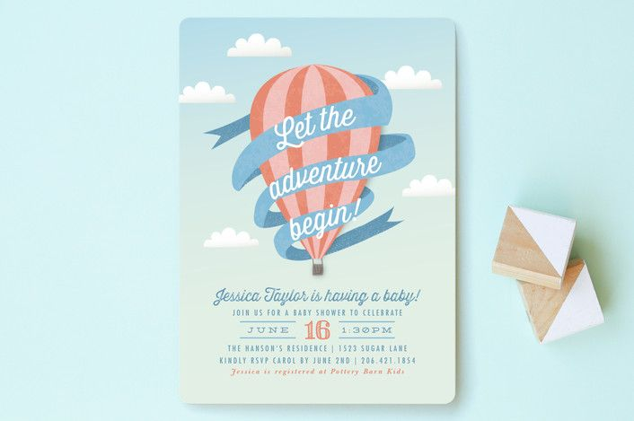 Balloon Adventure Baby Shower Invitations by Karidy Walker at minted.com