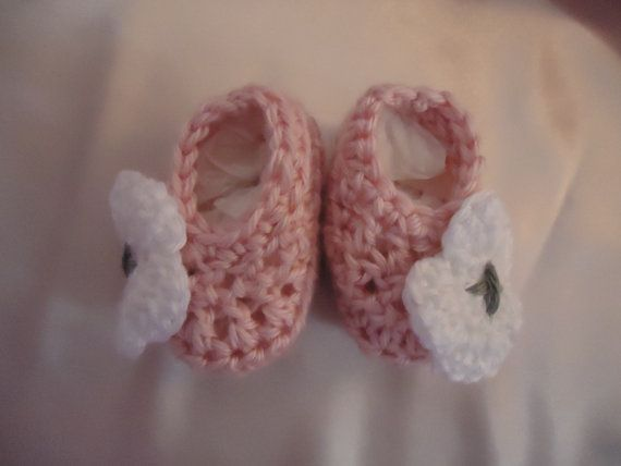 Baby Girl Newborn Booties Fun and Funky by ThisChild on Etsy, $8.99