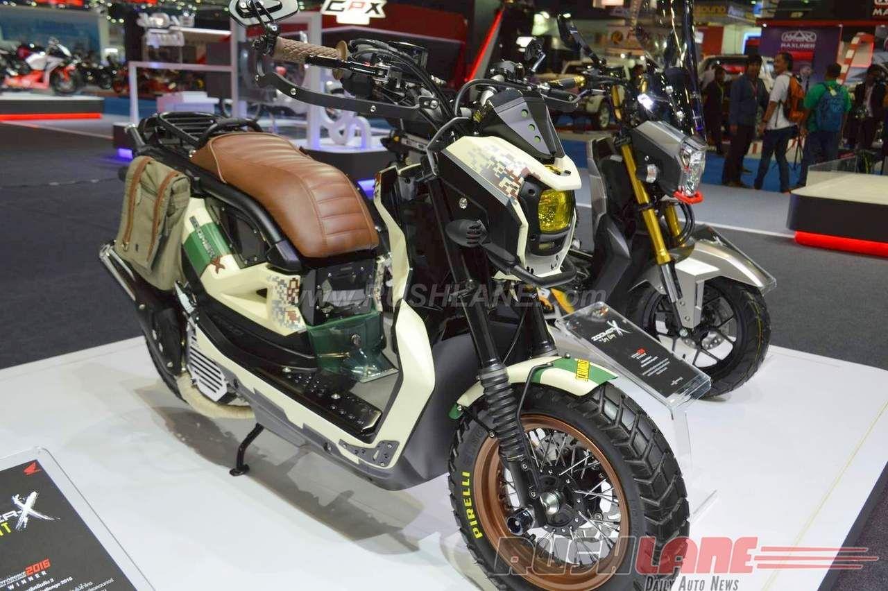 Honda Navi Beefed Up Honda Zoomer X Motorbike Concepts At 2016 Bangkok Motor Show In 2020 Honda Motorbikes Concept
