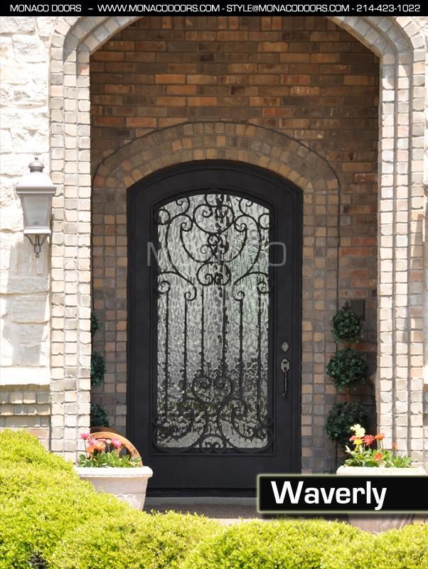 Frosted Glass With Black Iron Front Doors Pricing | Wrought Iron Doors