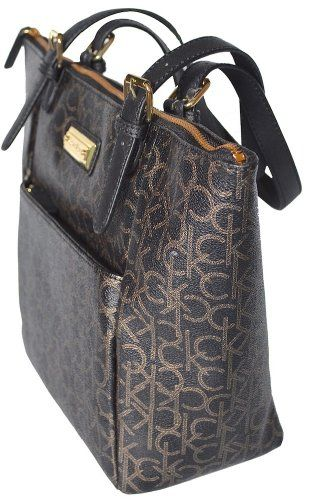 Women's Calvin Klein Monogram Tote Handbag CK Purse Bag « Xquisite Beauty