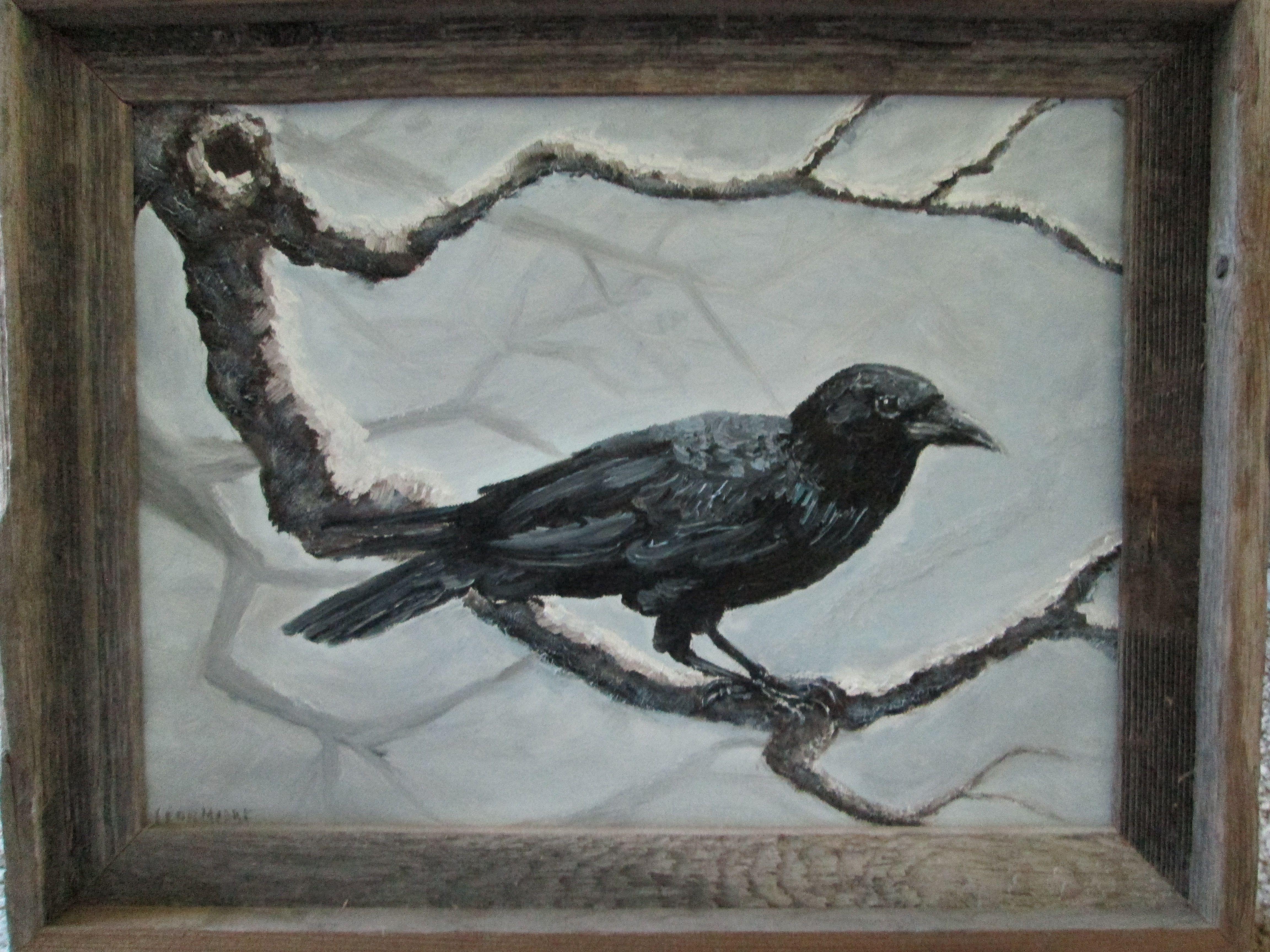 Crow painting
