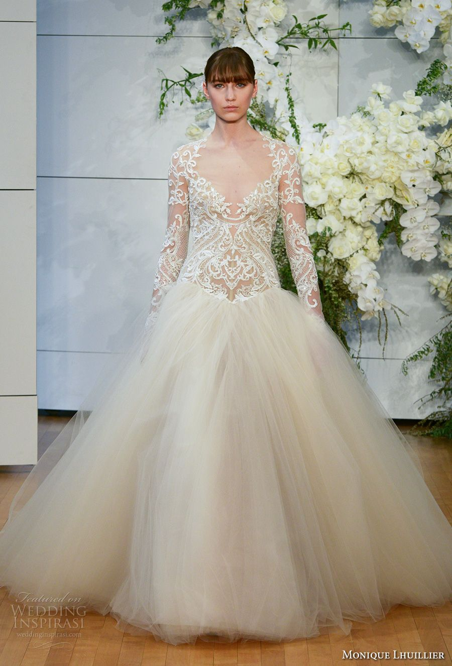 Monique lhuillier spring 2018 wedding dresses new york for Monique lhuillier brooke wedding dress