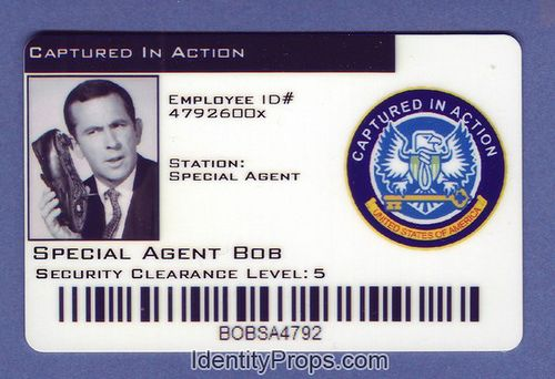 Cia Captured In Action Special Agent Bob Id Card Special Agent Cards Id Card Template