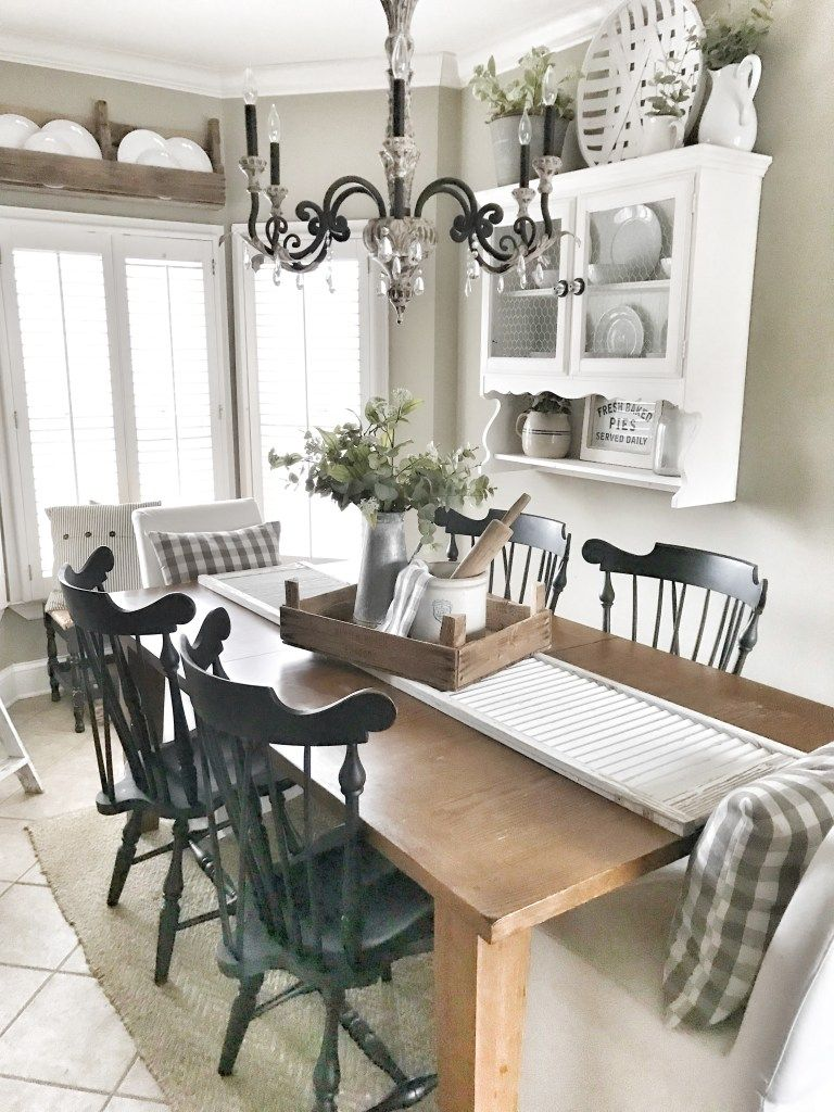 Chippy Shutter Table Runner Bless This Nest Farmhouse Table And Kitchen Farmhouse Kitchen Tables Dining Room Table Runner Diy Dining Room