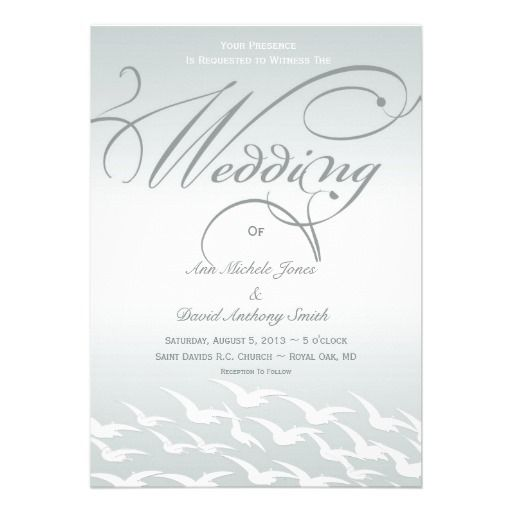 Sophisticated Slate Blue Wedding Invitation