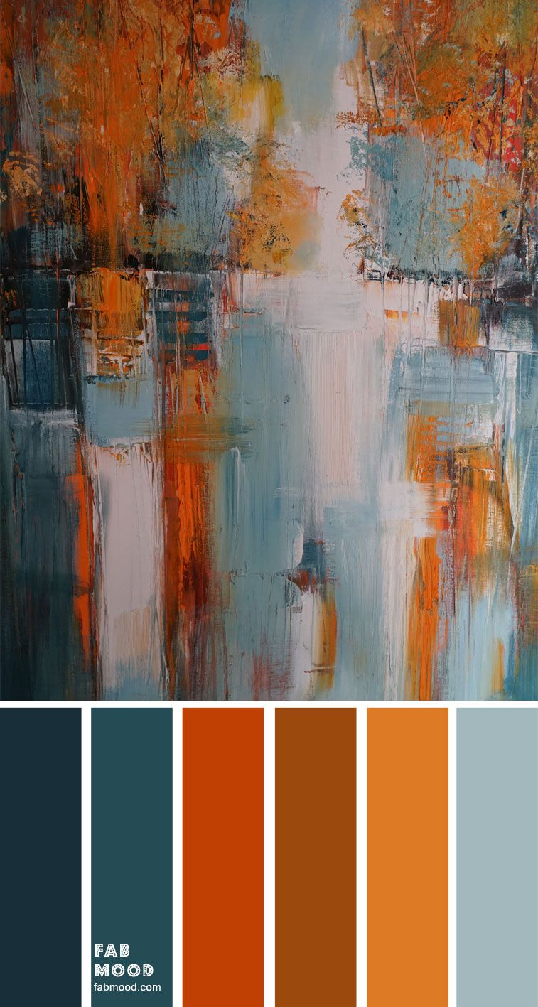 Teal and Rust Color Palette