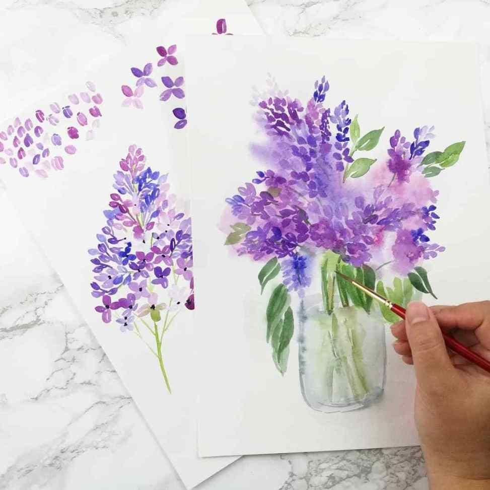 How To Paint Watercolor Poppies Things Unseen Designs Aquarell Blumen Aquarell Anfanger Aquarell