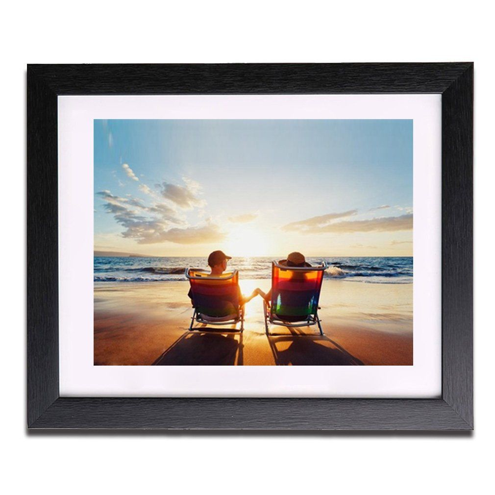 Ever Oasis Picture Photo Frame 10 X 12 Inch To Fit 6 X 8 Inch Picture Photo Print Poster Hanging Picture Frame Display Black Picture Frames Frame Display
