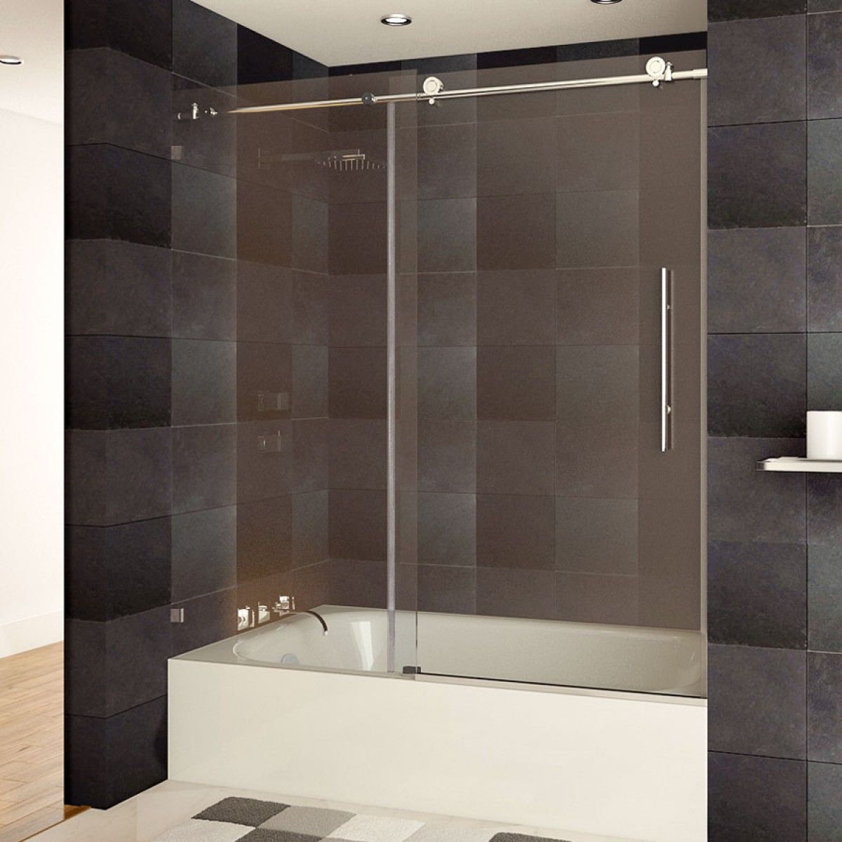 Ultra C 60 X 62 Bath Tub Door Chrome Finish Shower Doors