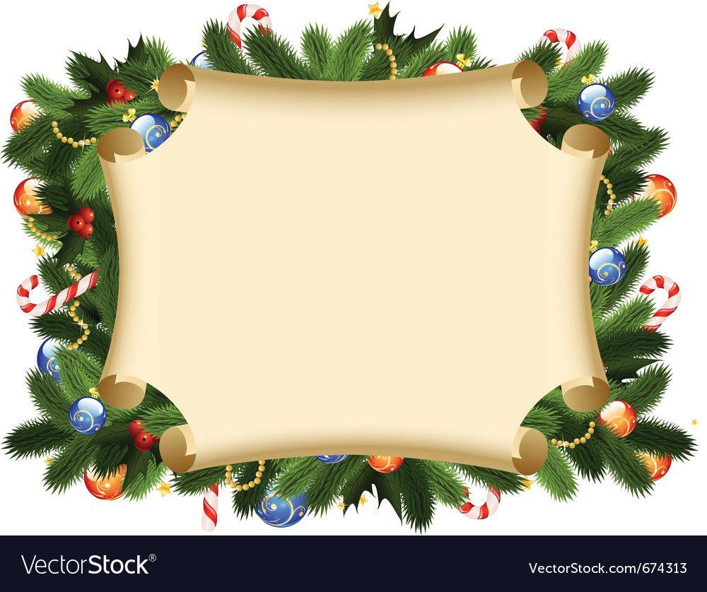 Christmas Wreath Ornament Holly Wreath Vectorstock Busqueda De Google Christmas Card Design Christmas Photo Card Template Christmas Greeting Card Template