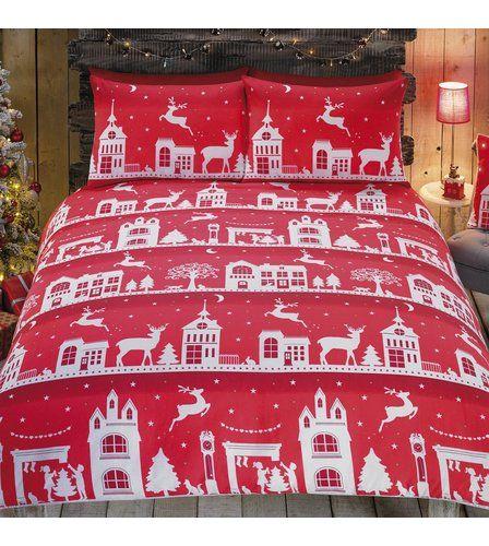 Image for Town Scene Duvet Set from studio | Christmas Decor ...