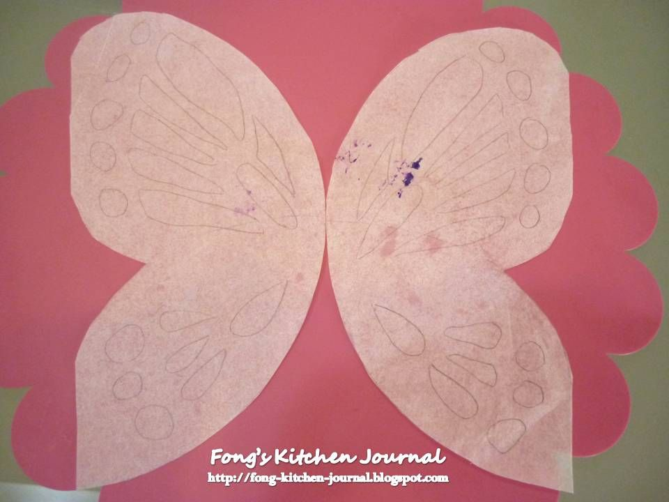 A colourful butterfly for you Cake Decorating Lesson 4 CutOut