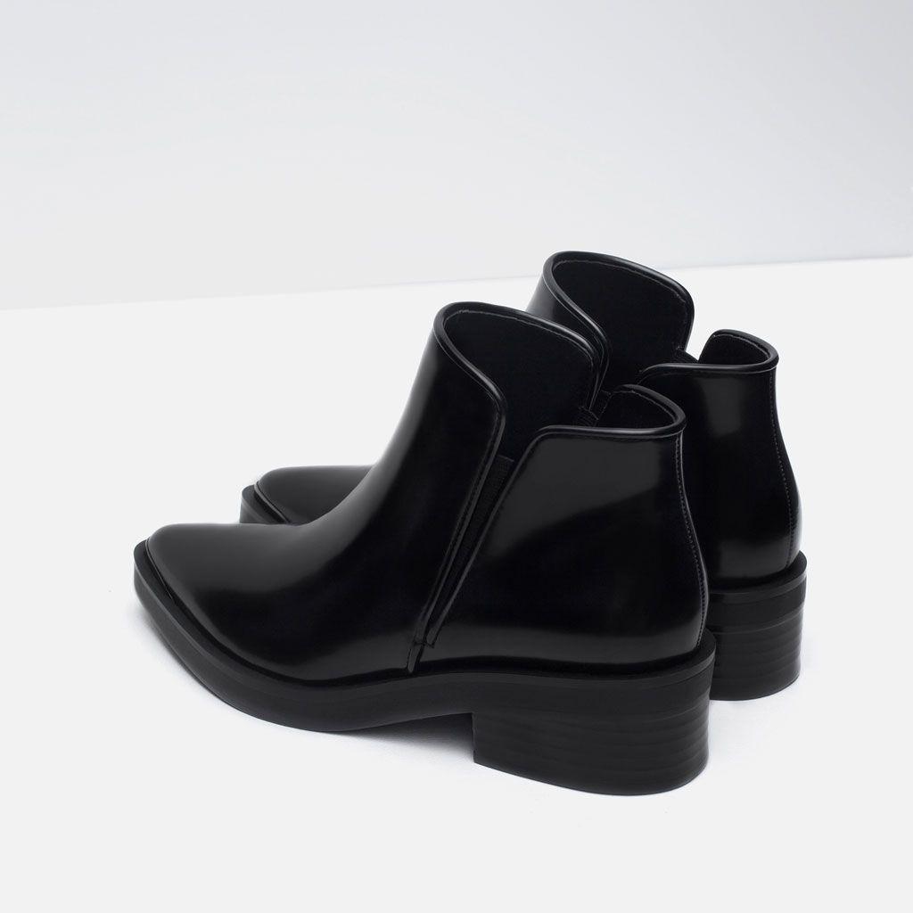 Nouveau femme en fourrure cheville bottes hautes femmes chaussures basses guérir en cuir pu bottes-afficher le titre d'origine