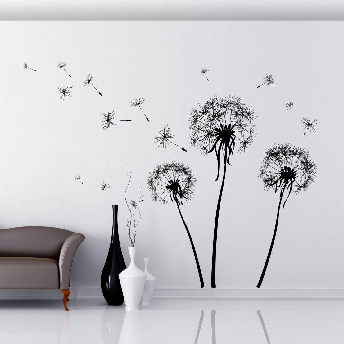 Con i fiori sulle pareti sempre primavera in casa - Stencil adesivi per mobili ...