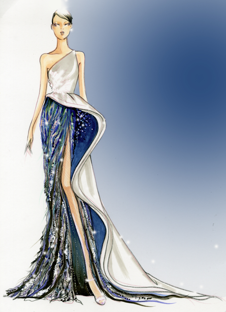 dress - Design fashion drawings on pinterest video