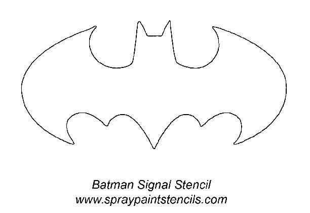 Bat Signal Stencil Kinderschminken Halloween Kostenlose Schablonen Fledermaus Vorlage