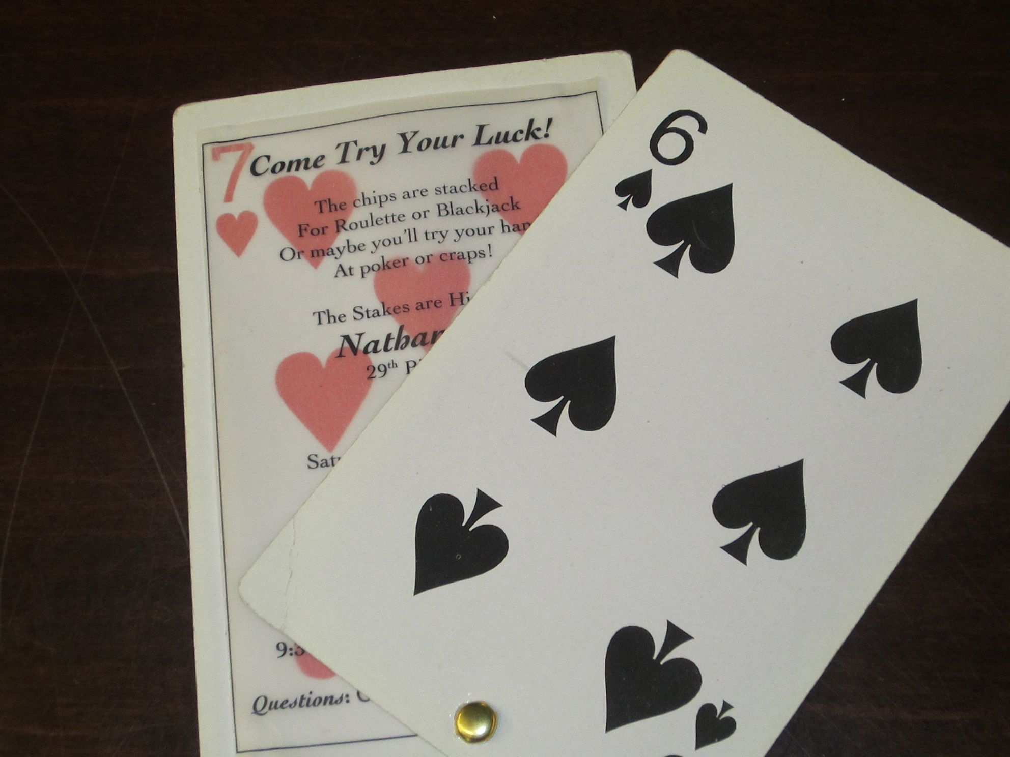 Casino Themed Party Invitation | Cosas para comprar | Pinterest ...