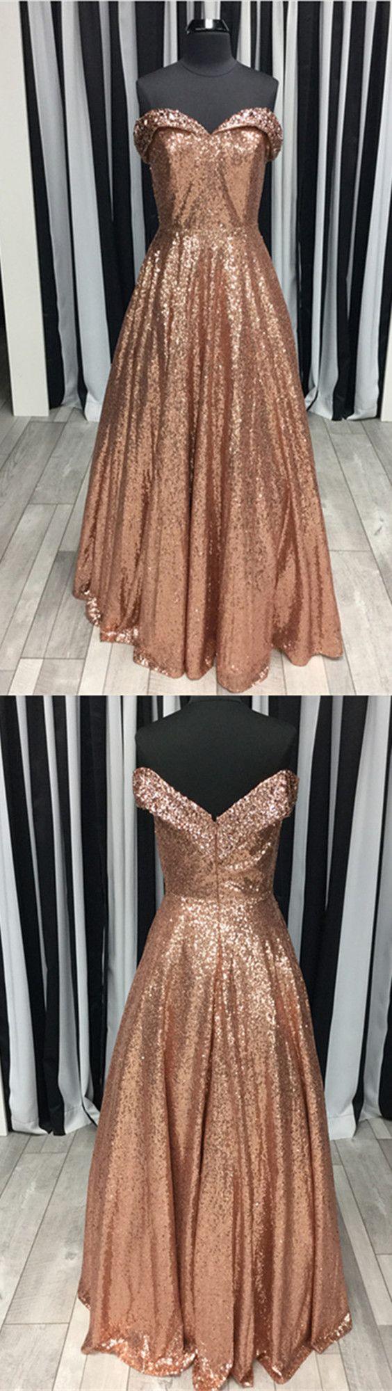 Beaded V Neck Off Shoulder Floor Length Prom Dresses Sequins Evening