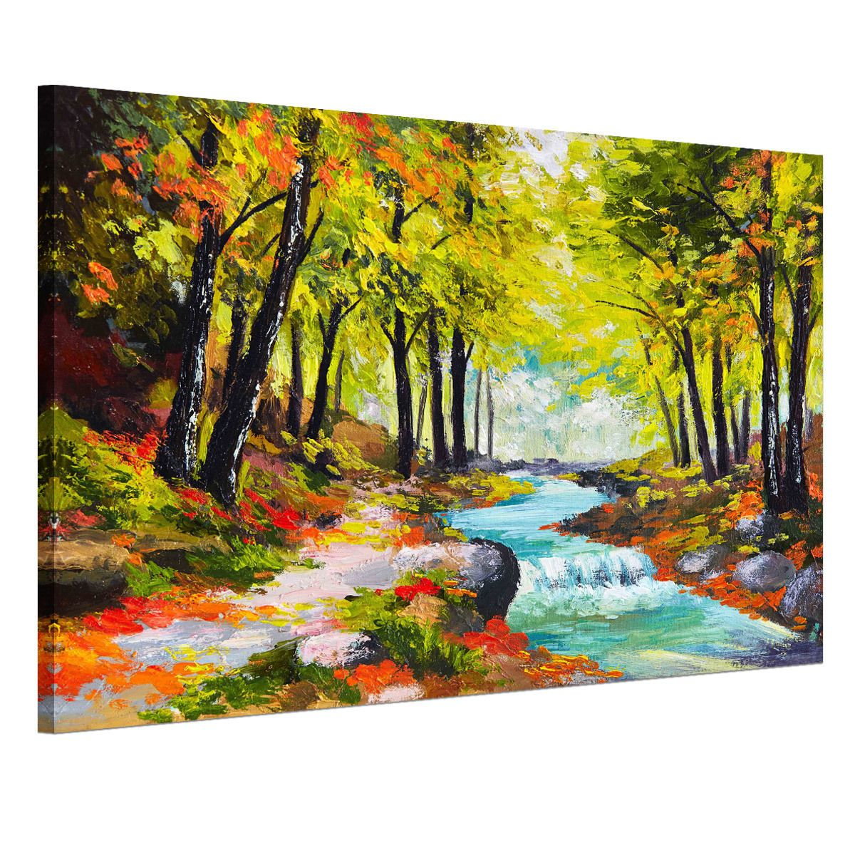 Framed Ready To Hang Canvas Prints Wall Art Painting Autumn Forest ...