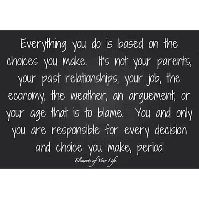 Exactly So Grow Up And Take Responsibility For Your Own Actions Quotes Inspirational Quotes No Response