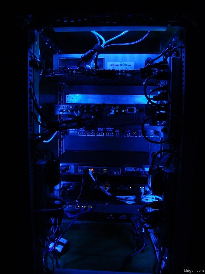 Led Strip Lighting For My A V Rack Cabinet Rear View Of The