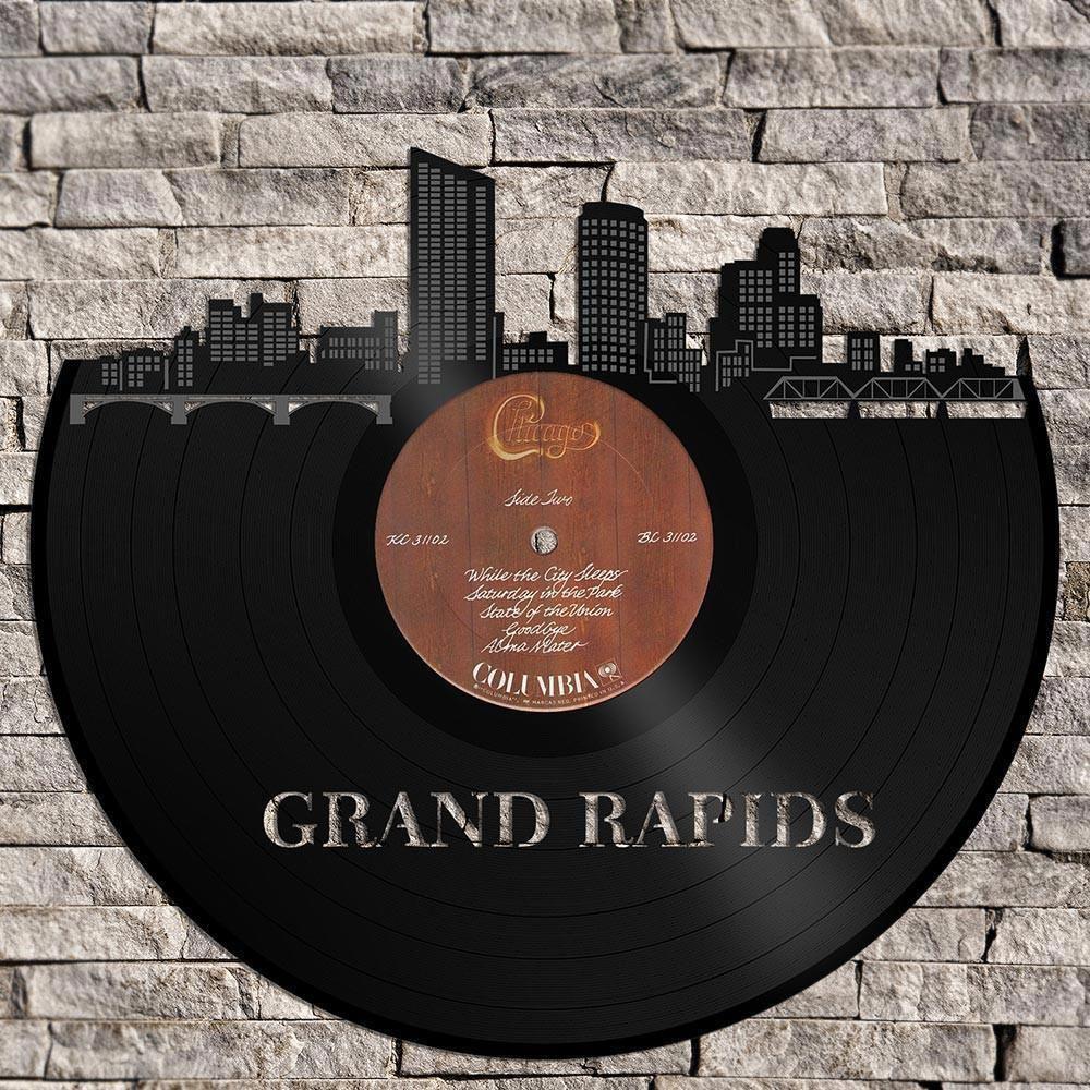 Unique Vinyl Wall Clock Grand Rapids