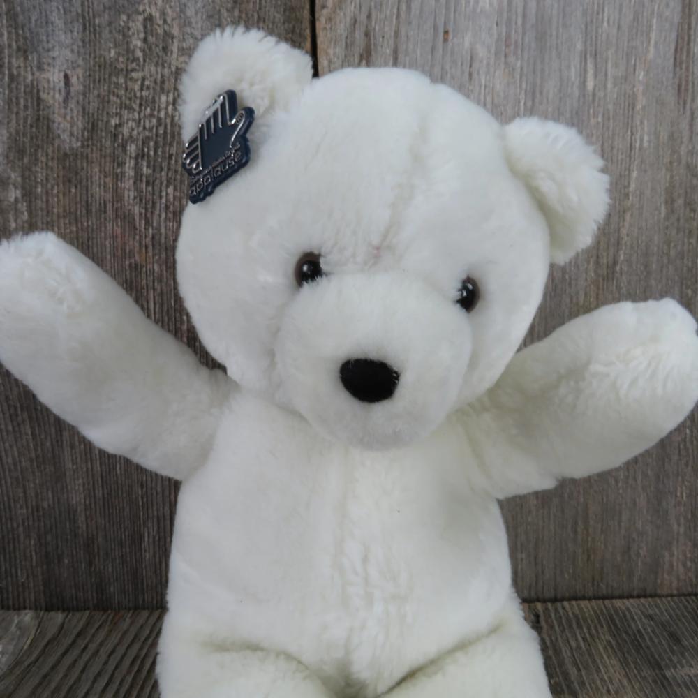 Vintage Teddy Bear Plush White Brown Flocked Nose Applause Wallace Berrie 1986 Korea Teddy Bear Plush Vintage Teddy Bears Bear Plush [ 1000 x 1000 Pixel ]