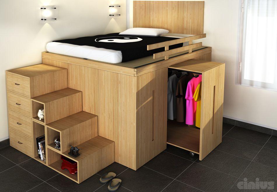 letto salvaspazio 6 idee per ottimizzare lo spazio in camera tua furniture pinterest. Black Bedroom Furniture Sets. Home Design Ideas